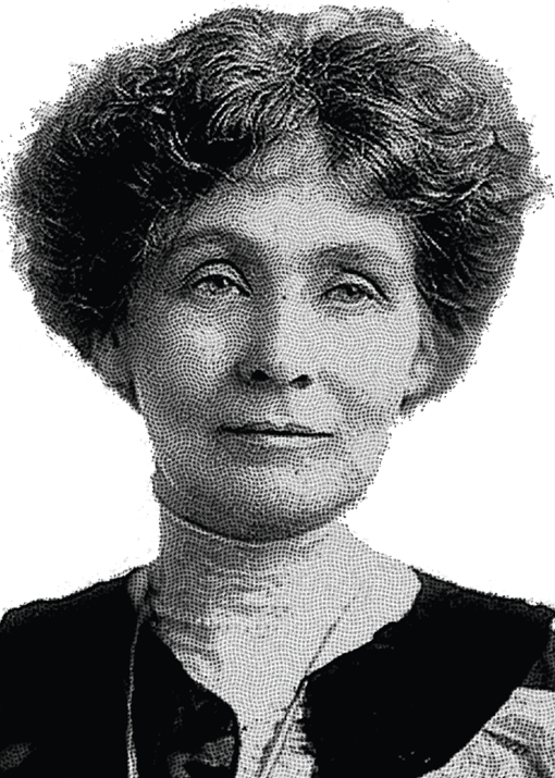 Emmeline Pankhurst (1858-1928), British leader of the women's suffragette movement
